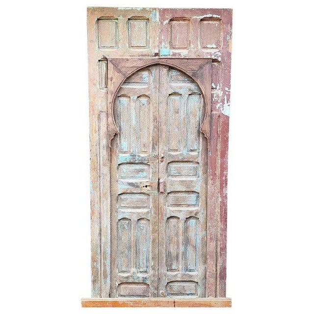 Blue 1940s Vintage Old Mok Moroccan Door For Sale - Image 8 of 8