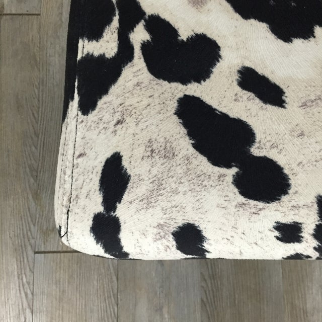 Black & White Cowhide Loveseat - Image 8 of 11