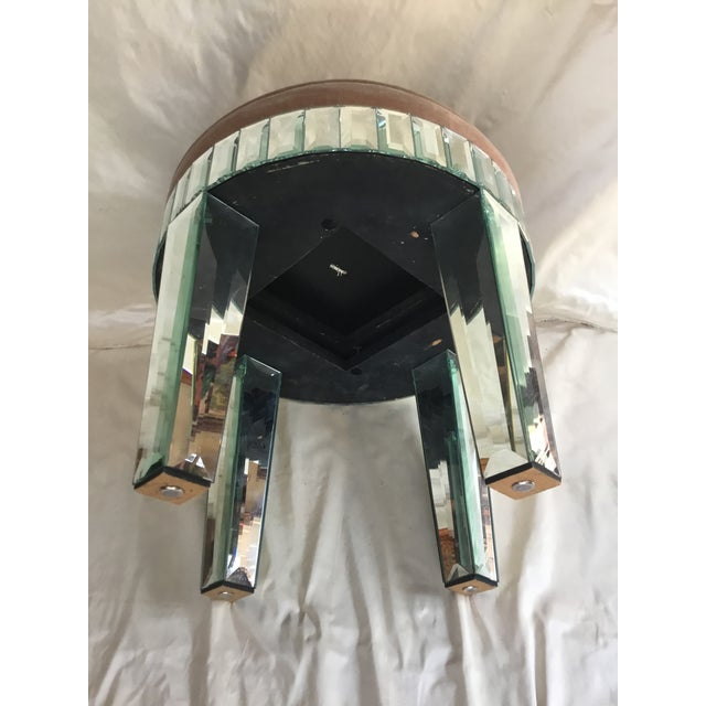1980s Larry Hagman's Mirrored Vanity Stool For Sale - Image 4 of 7