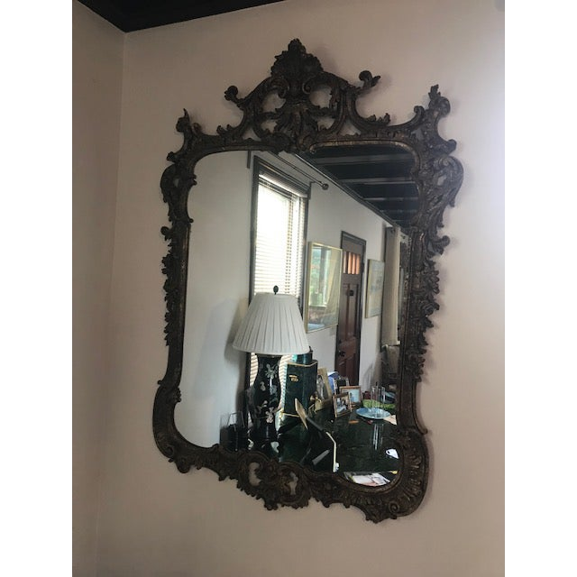 1970s Vintage Milch Carved Giltwood Mirror For Sale - Image 9 of 13