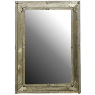 The Angie-2 Rectangular Venetian Style Mirror, Handmade and Hand Silvered For Sale