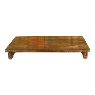Rustic Painted Wooden Bajot Table For Sale