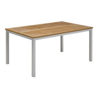 """63"""" Rectangular Outdoor Dining Table, Natural For Sale"""
