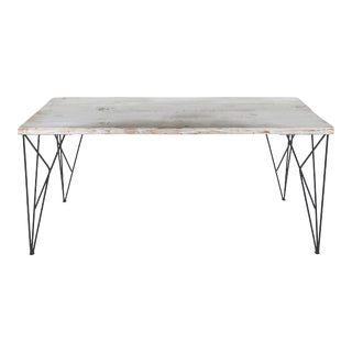 Rustic Whitewashed Console Table For Sale