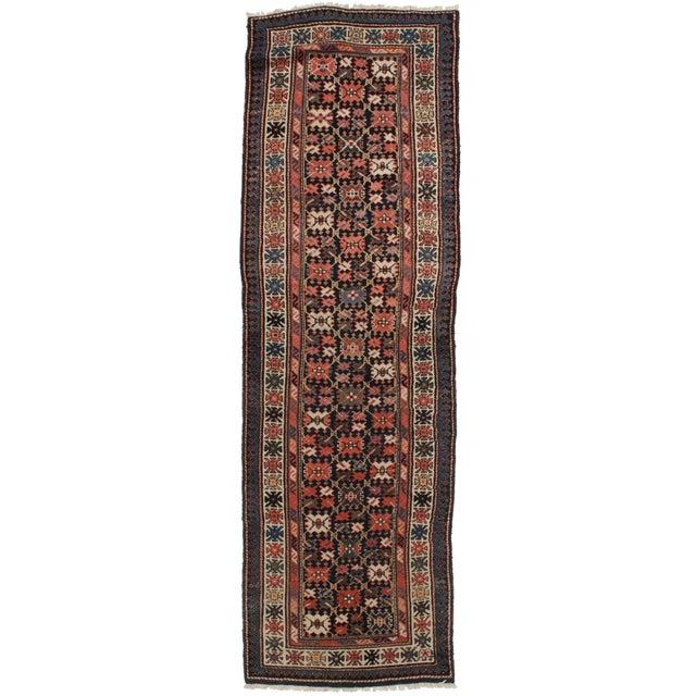 "RugsinDallas Antique Russian Wool Runner - 3'5"" X 11'2"" For Sale"