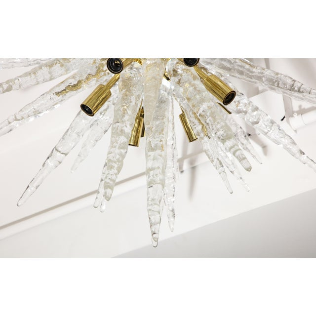 1970s 1970s Stalactite Murano Glass Ceiling Light For Sale - Image 5 of 9