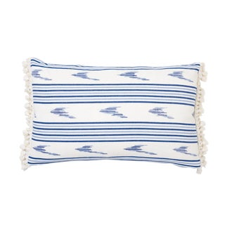 Schumacher X Mark D. Sikes Santa Barbara Pillow in Indigo For Sale