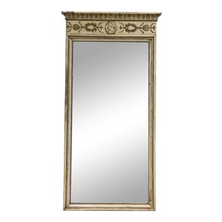 19th Century Neoclassic Trumeau Mirror For Sale
