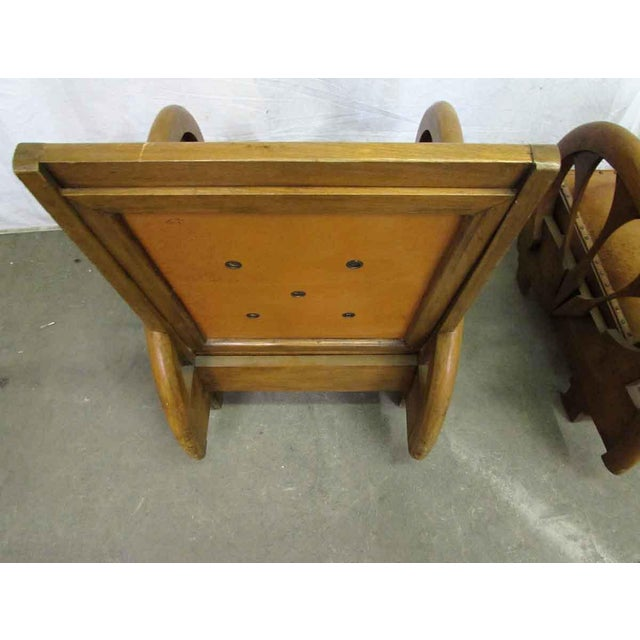 Carved Wood & Leather Lounge Chairs For Sale - Image 12 of 12