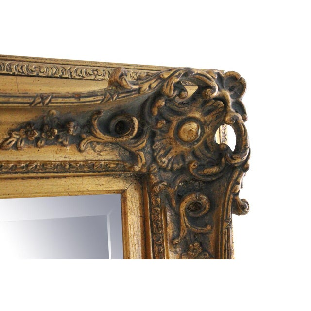 Carved Gold Gilded Mirror - Image 2 of 2
