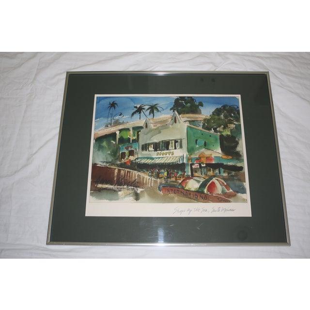 Santa Monica Shoreline Original Watercolor - Image 4 of 6