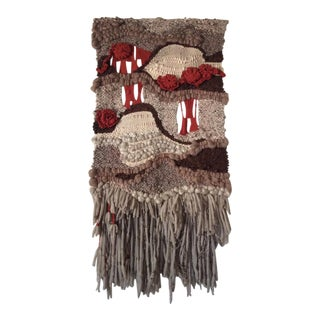 """Boho Woven """"Kings Canyon"""" Wall Hanging by June Manning 1978"""