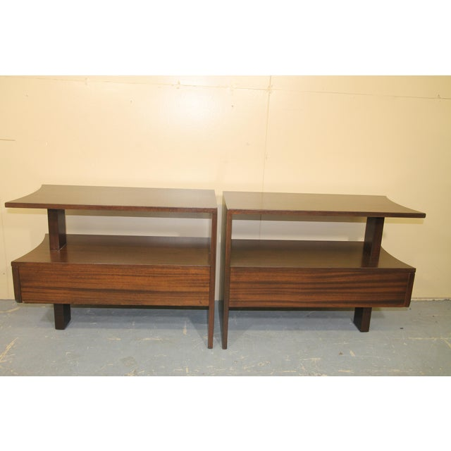 Chestnut 1930s Modernage African Mahogany Side Table For Sale - Image 8 of 10