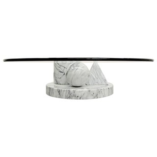 Italian Marble Coffee Table by Massimo Vignelli