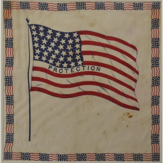 American Antique 38 Star American Flag Bunting For Sale - Image 3 of 4