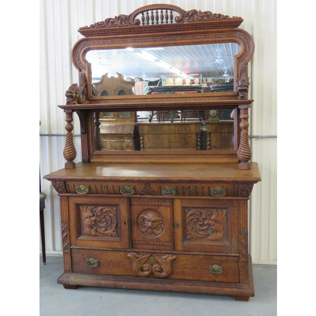 Early 20th Century Renaissance Style Sideboard With Superstructure For Sale - Image 9 of 9