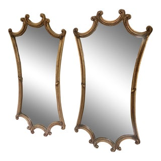 Antique French Gold Wall Mirrors - a Pair For Sale