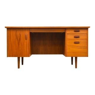 Danish Modern Style Teak Executive Desk For Sale