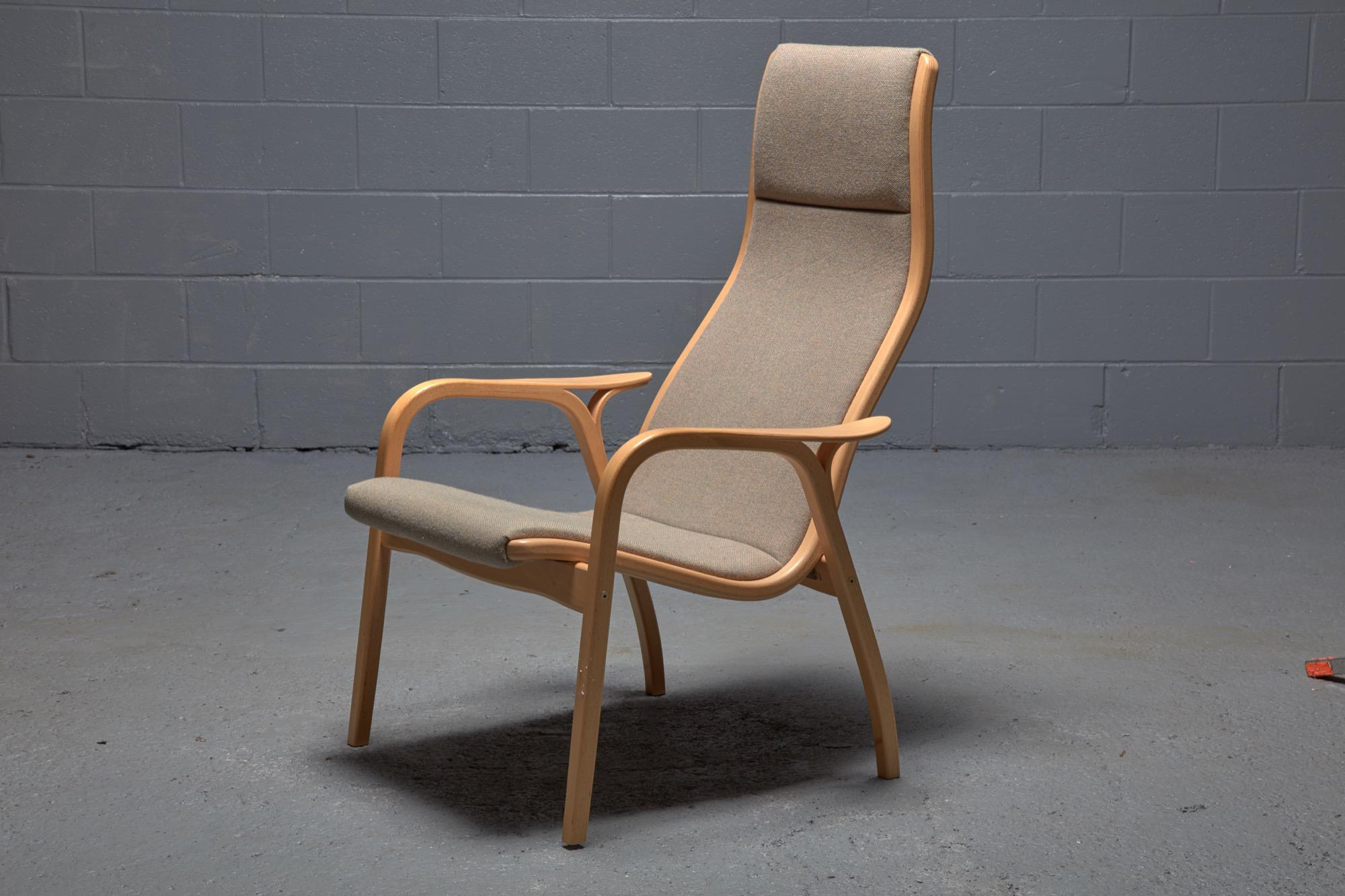 Yngve Ekström For Swedese Beech Lamino Lounge Chair   Image 8 Of 8