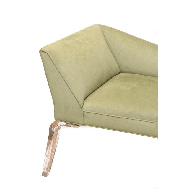 Shlomi Haziza Haziza Lucite and Upholstered Sculptural Chaise Lounge / Settee For Sale - Image 4 of 10