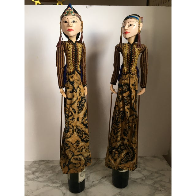 Tribal Indonesian Rod Puppets - a Pair For Sale - Image 3 of 7
