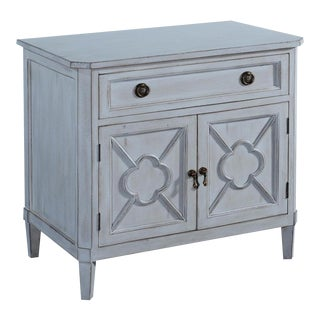 Wilcox Nightstand Pewter Textured Solid Wood 2 For Sale