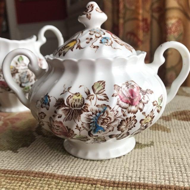 Ceramic Staffordshire Bouquet England Tea / Coffee Set - 11 Piece For Sale - Image 7 of 9