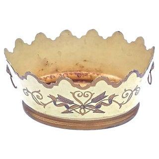 Vintage Tole Scalloped Cachepot