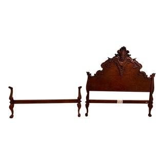 1990s Ralph Lauren Hudson River Mahogany Queen Size Bed For Sale