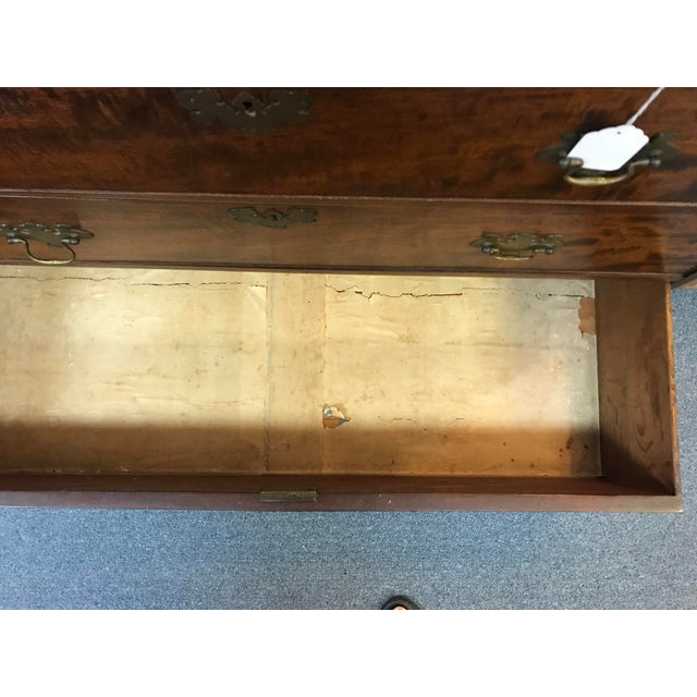 1800s English Georgian Mahogany 5 Drawer Dresser Chest For Sale - Image 11 of 11