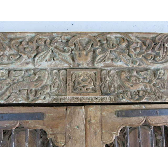 Antique Northern India Hand Carved Double Doors With Jamb - Image 7 of 10