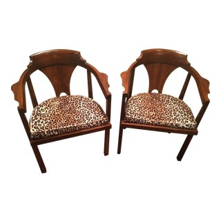 Mid Century Arm Chairs by Edward Wormley for Dunbar - a Pair For Sale