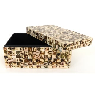 Vintage Tessellated Horn Lidded Box Preview
