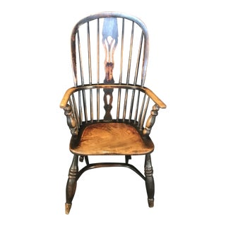 Original 19th Century Oak Classic British Windsor Chair For Sale