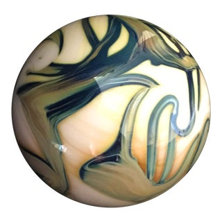 1990s Abstract Art Glass Ball/Paperweight