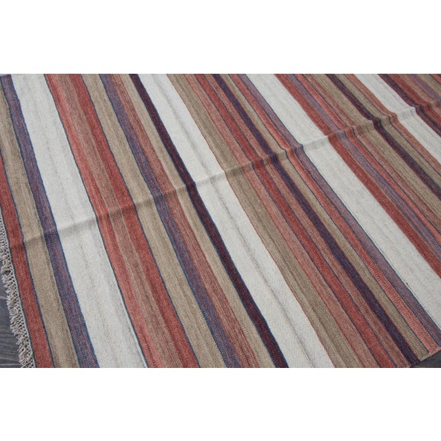 "Apadana - Modern Kilim Rug, 5'8"" x 8'1"" For Sale In New York - Image 6 of 7"
