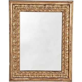 18th Century Baroque Gilt Wood Mirror For Sale