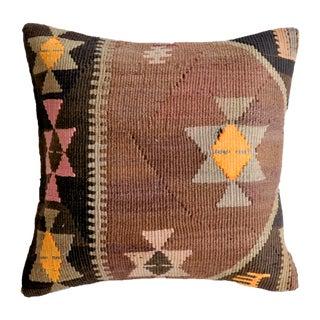 Vintage Amber Turkish Kilim Pillow Cover