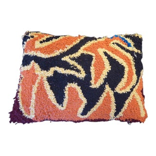 One-Of-A-Kind Large Hand-Woven Moroccan Pillow For Sale