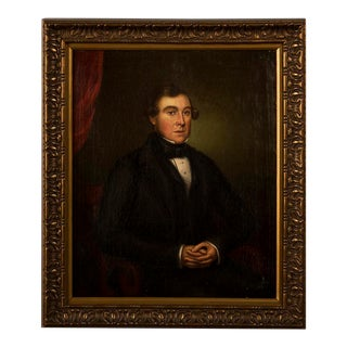 """Early 19th Century Antique English Portrait Oil on Canvas Painting """"A Regency Gentleman"""" For Sale"""