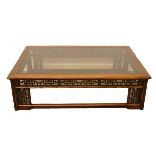 20th Century Chinoiserie Glass-Topped Coffee/Cocktail Table For Sale