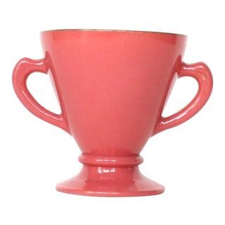 1930s Art Deco Hazel Atlas Platonite Pink Sugar Bowl For Sale