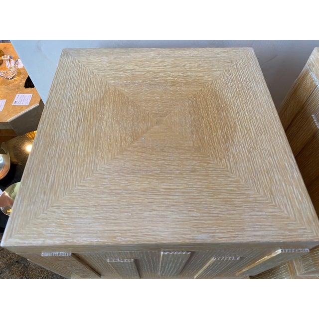 "Art Deco 48"" Art Deco Style Cerused Oak Pedestals - a Pair For Sale - Image 3 of 12"