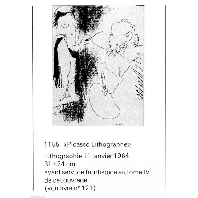 "Pablo Picasso ""The Artist and His Model"" Pablo Picasso Original Lithograph For Sale - Image 4 of 6"