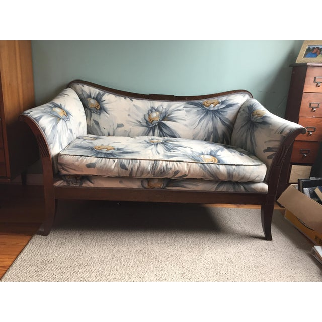 Traditional Settees with Floral Upholstery - A Pair - Image 2 of 10