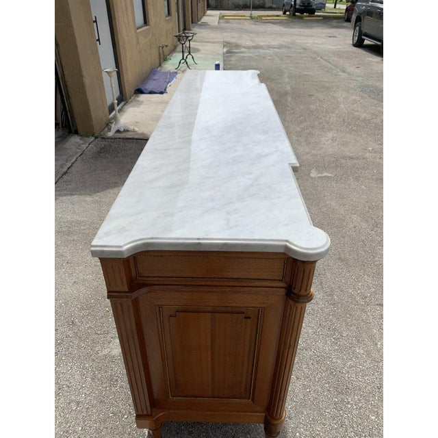 1910s French Louis XVI Antique Mahogany Sideboard or Buffet For Sale - Image 10 of 13