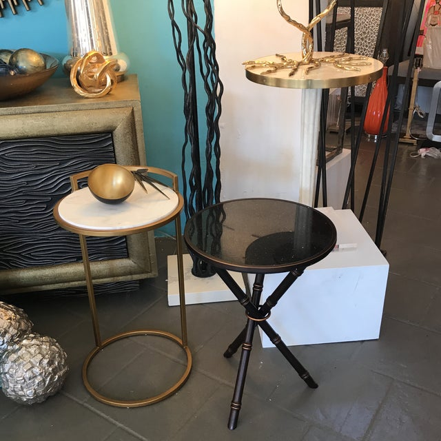 Bamboo Bronze Finished Side Table For Sale In Palm Springs - Image 6 of 7