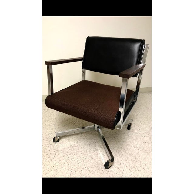 Steelcase Vintage EckAdams Corp 1970's Office Chair For Sale - Image 4 of 9