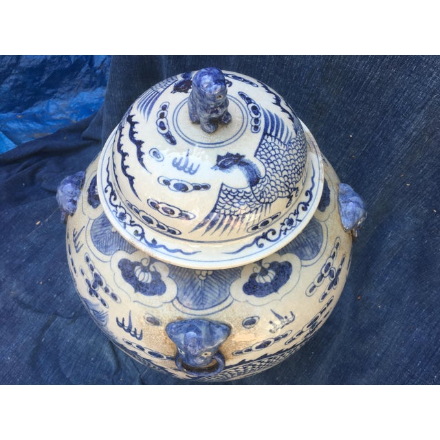 Chinese Foo Dog/Dragon Lidded Urn For Sale - Image 9 of 9