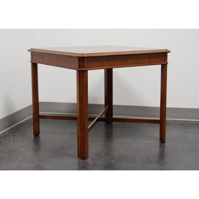 Drexel Heritage Yorkshire Yew Wood Chippendale Accent Table For Sale - Image 9 of 9